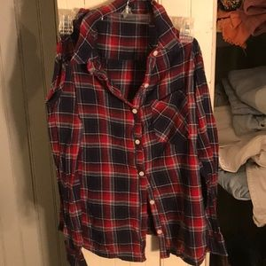 Open shoulder flannel